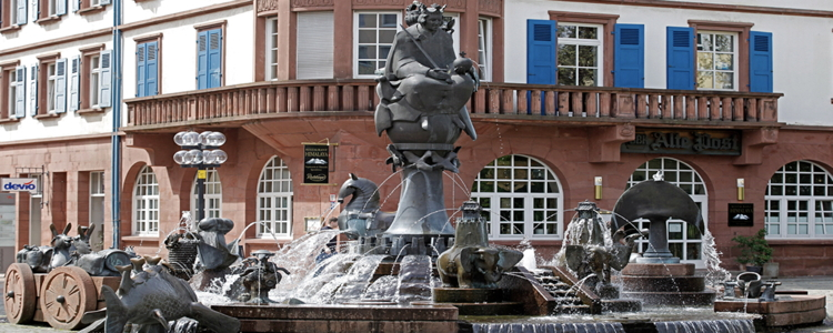 A fountain in the city center, more info under http://www.kaiserslautern.de